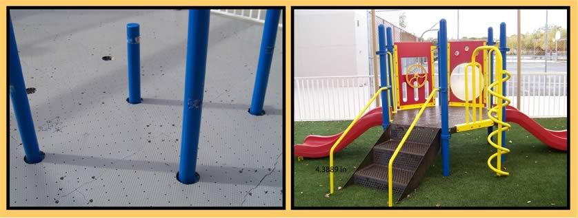 人工芝基礎造成遊具下